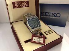 Seiko A239-502A World Time Chrono Alarm Quartz LCD LED Watch 5.