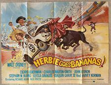 Cinema Poster: HERBIE GOES BANANAS 1980 (Quad) Cloris Leachman