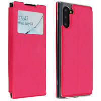 Cover Samsung Galaxy Note 10 Etui Fenster Wallet-Etui Funktion Halterung Rosa