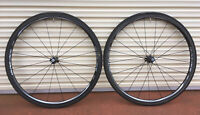 SHIMANO DURA ACE 9000 C24 ROAD WHEELS CARBON TUBULAR 11 SPD GOOD c40 c60 di2