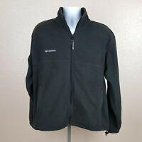 Columbia Men's Fleece Jacket Full Zip Black Size Large