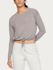 Under Armour UA Women's Whisperlight Crop Cover Up Top - Grey - New