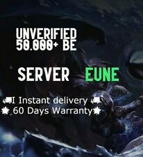 League of Legends Account EUNE LoL Smurf Acc 50000+ BE IP Level 30 Unranked