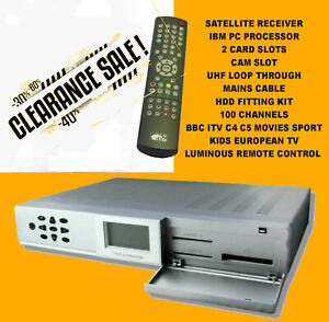 Fully set up SD Satellite receiver 100's free channels - ALL EUROPE TV Clearance