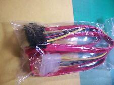 Vega Tech IDE 4Pin & SATA 7Pin to SATA 7+15Pin Data Power Cable Adapter (NEW)