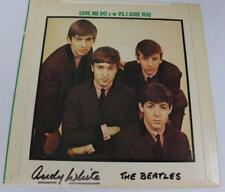"Andy White THE BEATLES Signed Autograph ""Love Me Do"" 45 rpm 7"" Single Record LP"