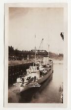 1930s USS LONG Columbia River Oregon ORIGINAL PHOTOGRAPH Photo DD-209 Navy NAVAL
