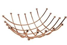 New Stylish Copper Nest Wire Fruit Bowl Kitchen Food Fruit Storage Holder Basket