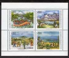 CHILE 1996 MS STAMP # 1845/8 MNH ECOTURISM ECOLOGY