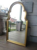 "Vintage Mid Century Gold Mirror Large wood VGC  44"" x 24"""