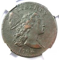 1794 Liberty Cap Large Cent 1C Coin S-22 Variety - Certified NGC XF Details (EF)