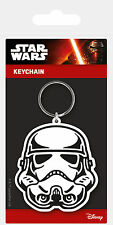 STAR WARS STORMTROOPER HEAD LICENSED RUBBER KEYRING