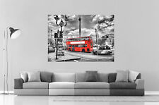 Londres London England Red Bus 02 Wall Art Poster Grand format A0 Large Print