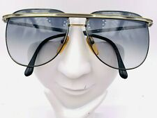 Vintage Marcolin 6019-215 Gold Gunmetal Aviator Brow Sunglasses Frames Italy