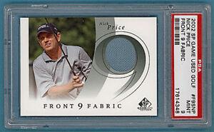 2002 Upper Deck SP Game Used Fabric Golf Nick Price #F9SNP PSA 9!