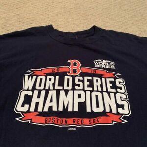 Boston Red Sox 2018 World Series Champs T Shirt MLB Baseball Unisex Cotton Tee