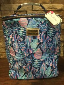 NWT DEFECT Lilly Pulitzer Insulated Wine Carrier Cooler with Zip Close Scale Up