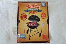 Shabby Blechschild Wandbild Bild Barbecue Grillen Retro Antik Look 33 x 25cm NEU