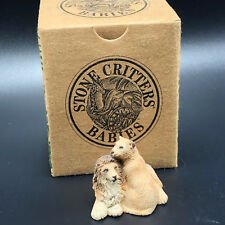 STONE CRITTERS FIGURINE ANIMAL COLLECTION sculpture littles lion couple king cat
