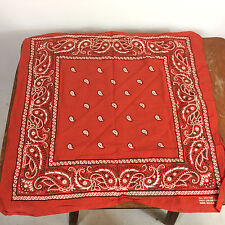 Vintage Paisley Fast Color All Cotton Work Handkerchief Usa Trucker Motorcycle