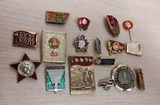 Badges comunism Original USSR Russia political badge Red October Lenin