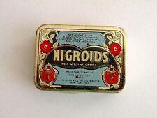 Vintage Nigroids Hinged Tin Box Licorice Lozenges Ferris Co  England