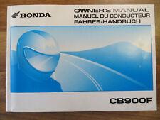 Honda CB 900 F Bedienungsanleitung mit Schaltplan Handbuch Motorrad Manuel
