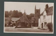 Castle Combe.  Wiltshire. Postcard. Car. Castle Inn.  RP Photograph   da38