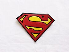 Superman patch Comics Super Hero S Iron On Embroidered Applique costume DIY red