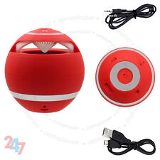 New red mini haut-parleur bluetooth sans fil main-libre pour pc portable mobile S247