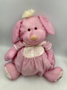 Fisher Price Puffalump Pink Puppy Dog Pink Vintage 1986 8003 Plush 80s Toy