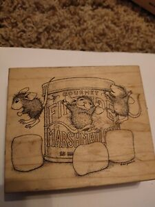 HOUSE MOUSE Stampa Rosa House Mouse Rubber Stamp MARSHMALLOW BOUNCE Z8