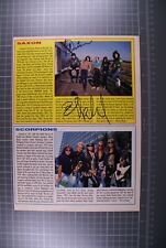 More details for saxon signed biff bifford and paul quinn magazine page