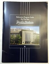 2008 RELOCATION PROGRAM GUIDE for the NEW YANKEE STADIUM with DVD.