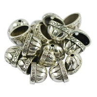 20pcs Engraved Large Pewter Bead Caps Jewellery Findings Craft Tibet Silver