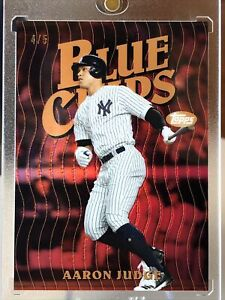 2019 Topps Finest Blue Chips Red Refractor Aaron Judge 4/5 RARE PSA