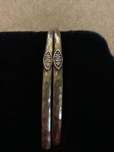 silpada (TH) brass & Crystal earrings