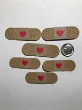 6 Bandages Premade PAPER Die Cuts / Scrapbook & Card Making