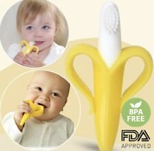 Best BABY Banana Teething Toddler Tooth Brush Cute Teether and Gumming BPA Free
