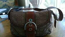Womens Handbag Coach Brown & Tan