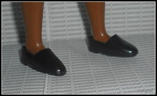 SHOES LOT MATTEL KEN DOLL BLACK FAUX BUCKLE LOAFER & DRESS SHOES 2 PAIRS DIORAMA