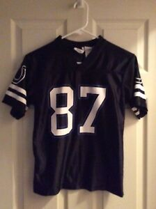Reggie Wayne #87 Indy Colts Black Jersey Youth M 10-12