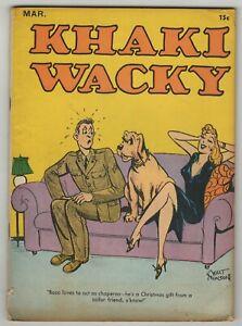 Khaki Wacky (1941) #3 Centaur Risque Humor Walt Munson Filchock Rayon Rare VG-