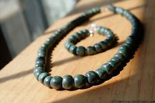 Guatemalan Jade Maya stone beads necklace armony & protection gemstone