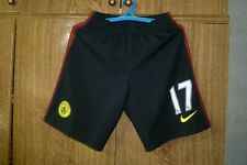 Manchester City Nike Football Shorts #17 Kevin De Bruyne Away 2016/2017 Size S