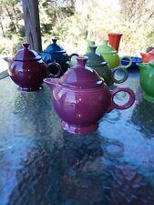 FIESTA LARGE 44 OZ TEAPOT TEA POT heather purple FIESTAWARE