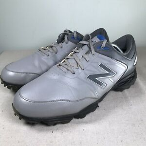 New Balance Golf Shoes Waterproof Gray Leather Mens 11 NBG2005