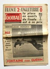 France Football n°1062-1966-PELE-HONGRIE-BUDZINSKI-GONDET-HAUSSER-EON-SANCHIS
