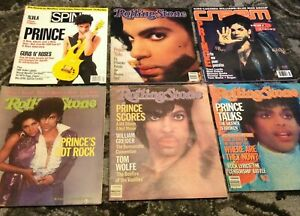 PRINCE RARE LOT OF 6 VINTAGE MAGAZINES 1983-1993 Rolling Stone Spin Creem NPG