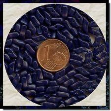 406096 *** 80 perles anciennes BLEU MARINE forme racine corail  8X3mm